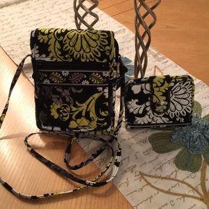 New: Vera Bradley Crossbody Bag w/Matching Wallet
